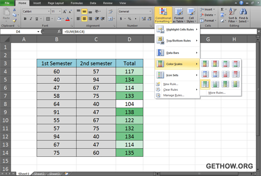 Conditional Format in Excel