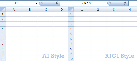 A1 R1C1 Style