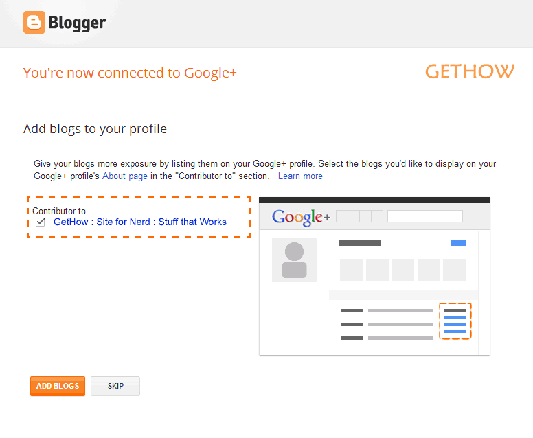 Add Blog to Google Plus