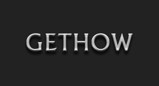 GetHow Metallic Text Effect