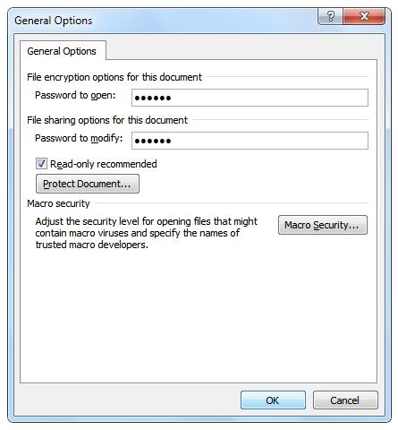 Set Passwords