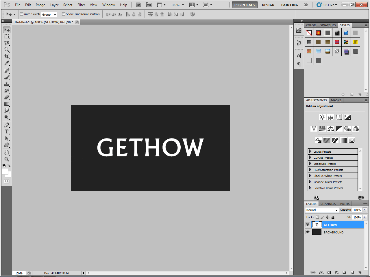 how to add a text background photoshop