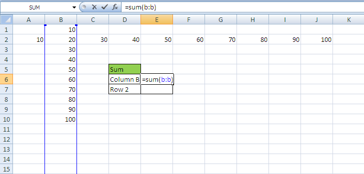 Referring to Complete Column