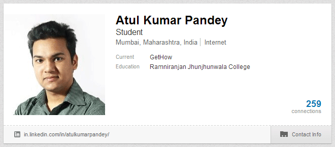 Atul Kumar Pandey on LinkedIn