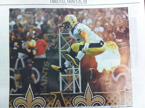 Saints Football Fire Fart