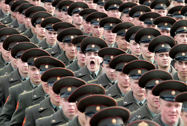 Soldier Yawning