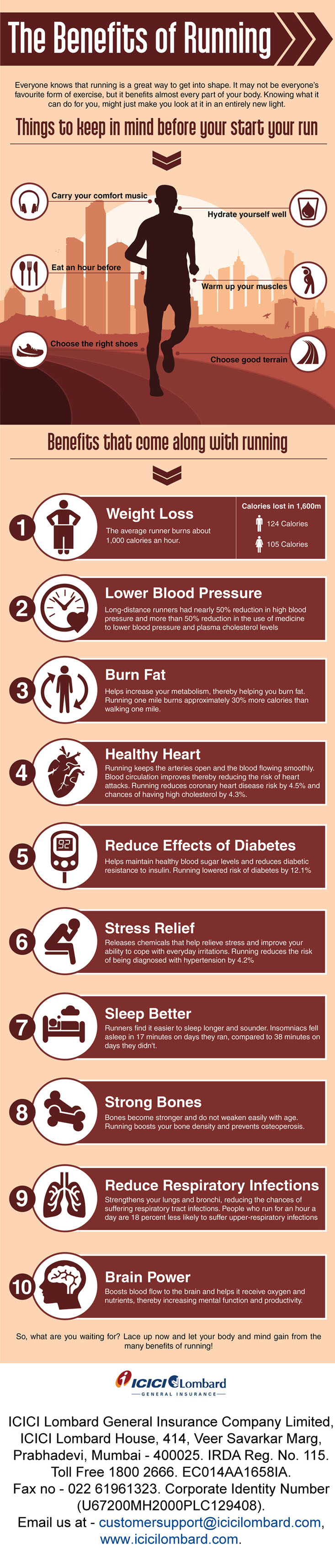 [Infographic] The Benefits of Running to Health