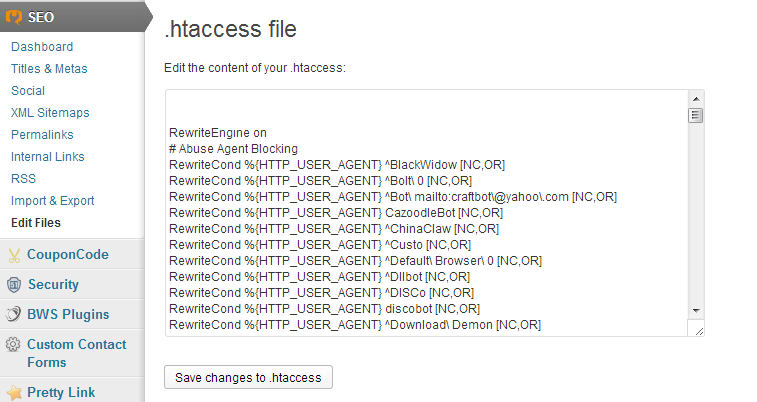 Use .HTACCESS