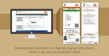 Download Aadhaar Card eAadhaar Online