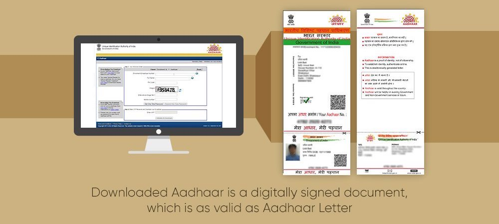 Download your e-aadhaar letter card from uidai youtube.