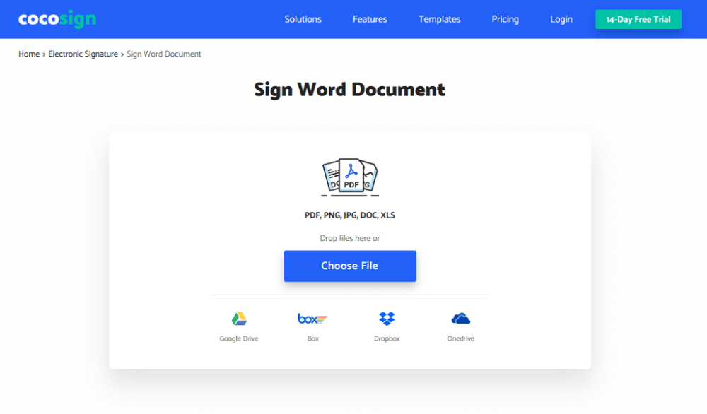 CocoSign: Sign word document